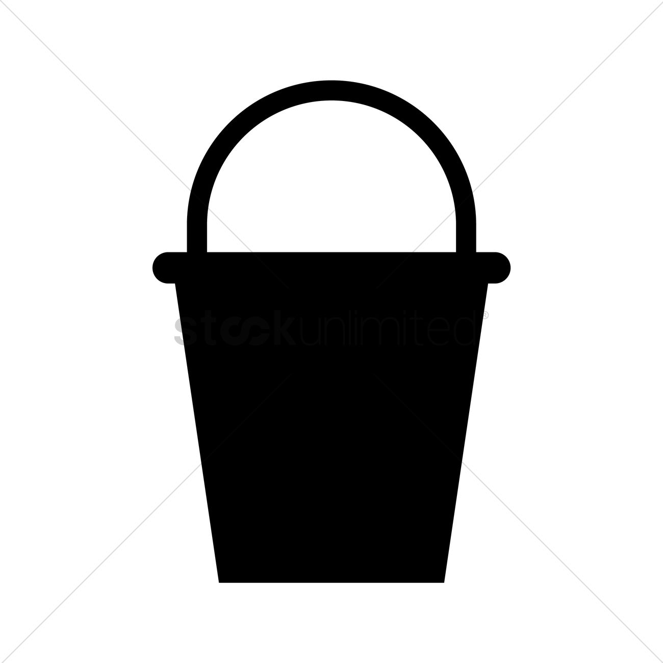 Bucket Silhouette Vector Image 1955822 Stockunlimited