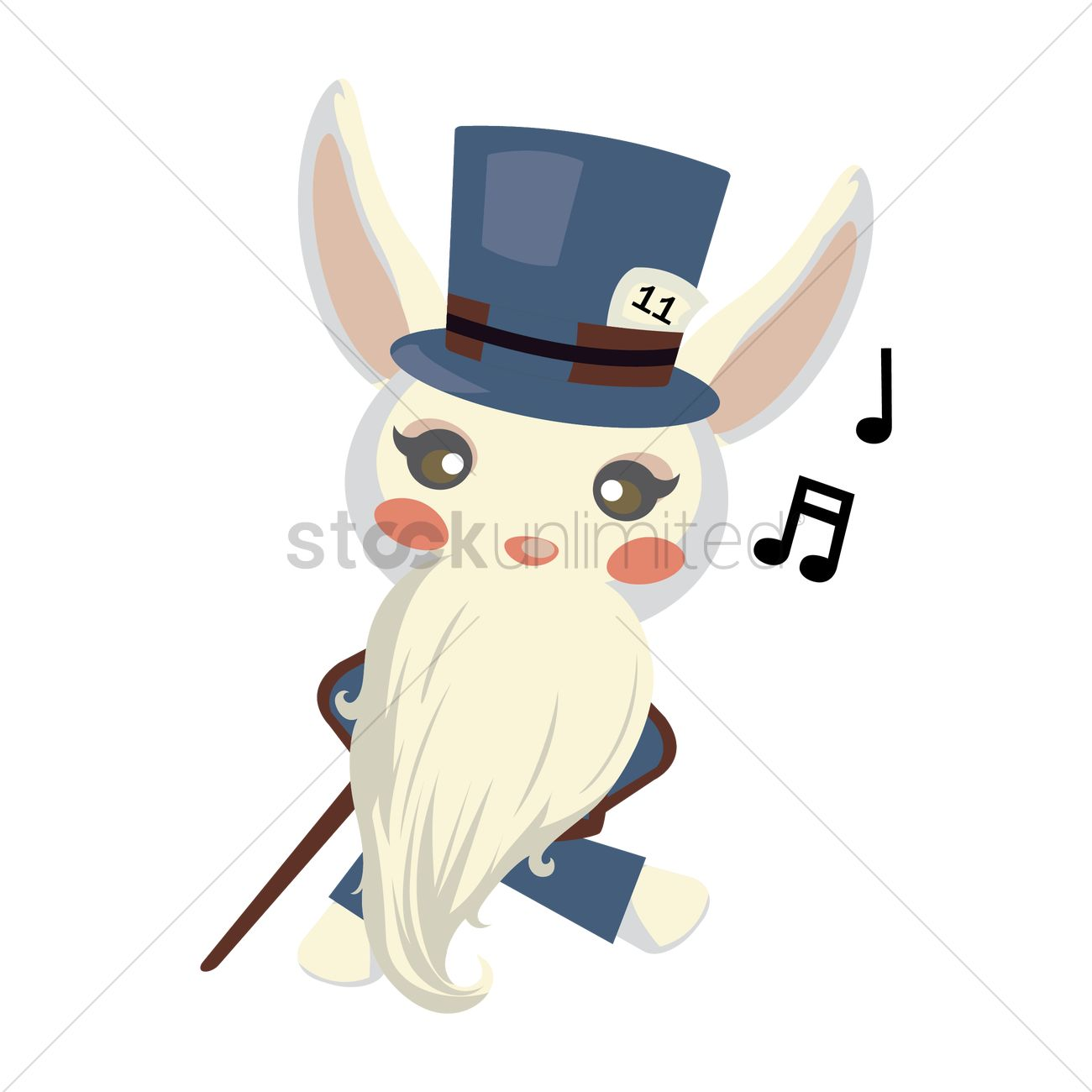 Free Bunny Dressed As A Old Man Vector Image 1279306 Stockunlimited