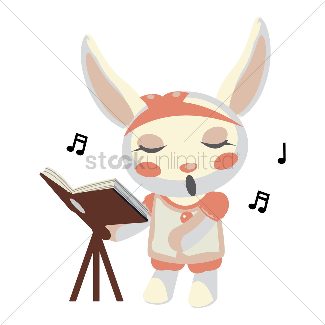 Free Bunny Singing Vector Image 1279302 Stockunlimited