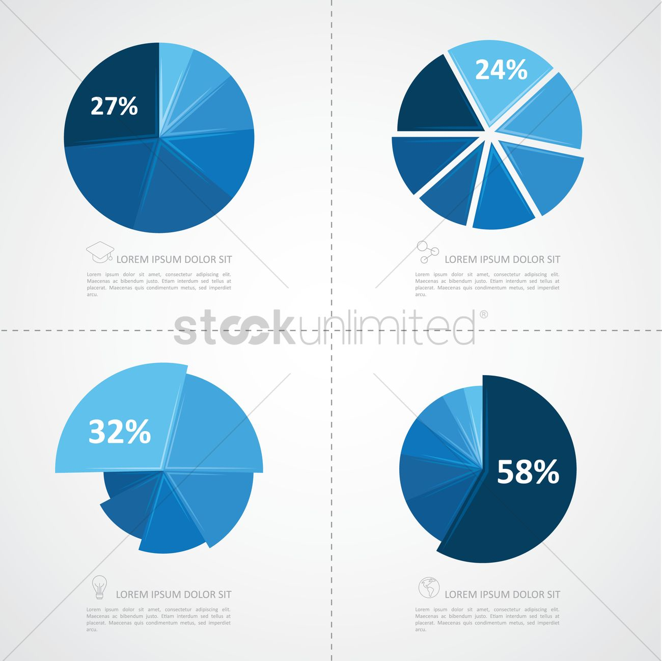 Business Pie Chart Infographic Vector Image 1264498 Stockunlimited