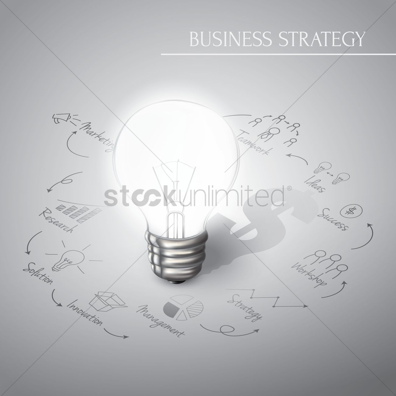 Business strategy diagram concept Vector Image - 1964618