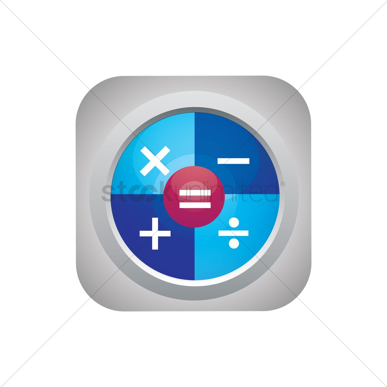 Calculator icon Vector Image - 1607518 | StockUnlimited