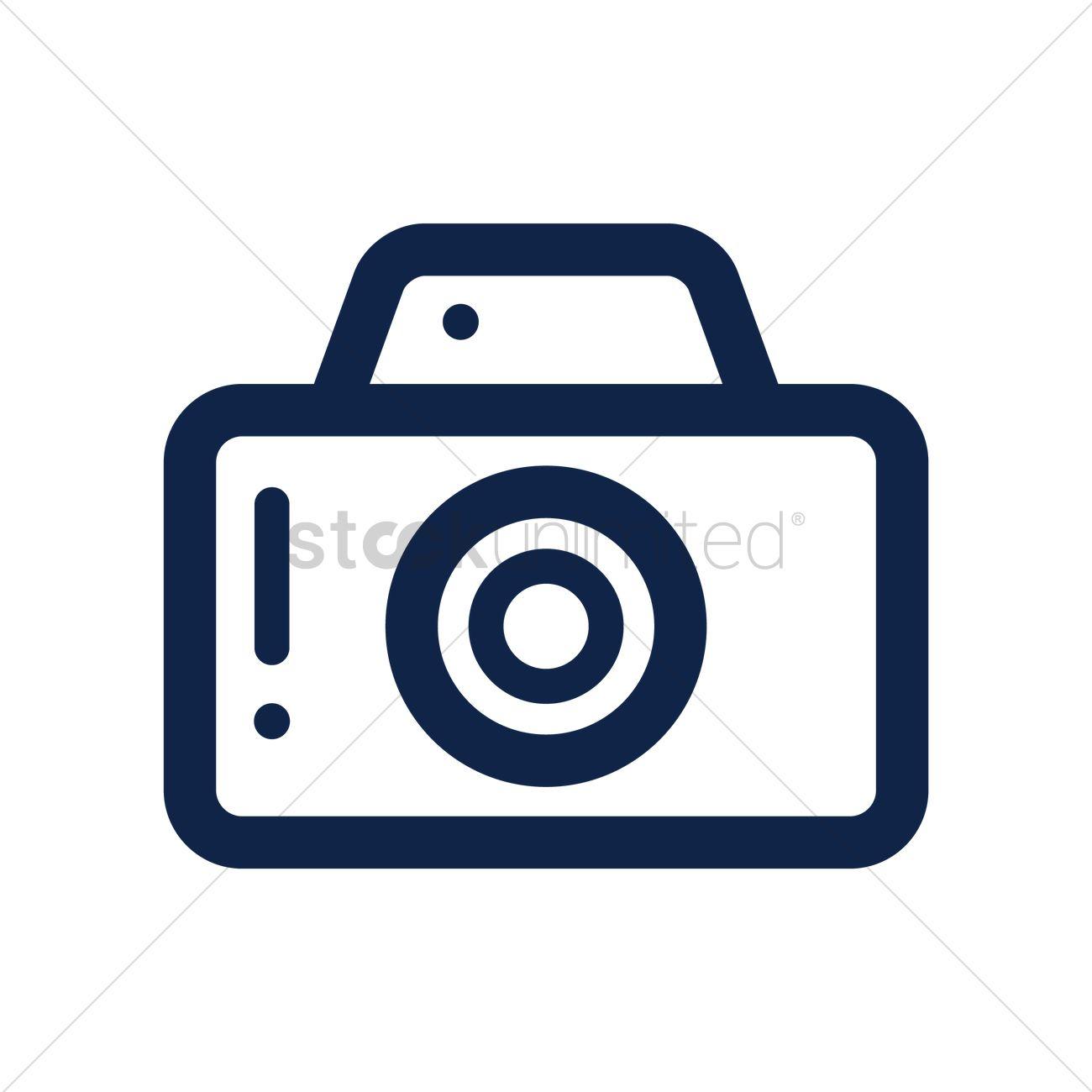 Camera Icon Vector Image 1595246 Stockunlimited