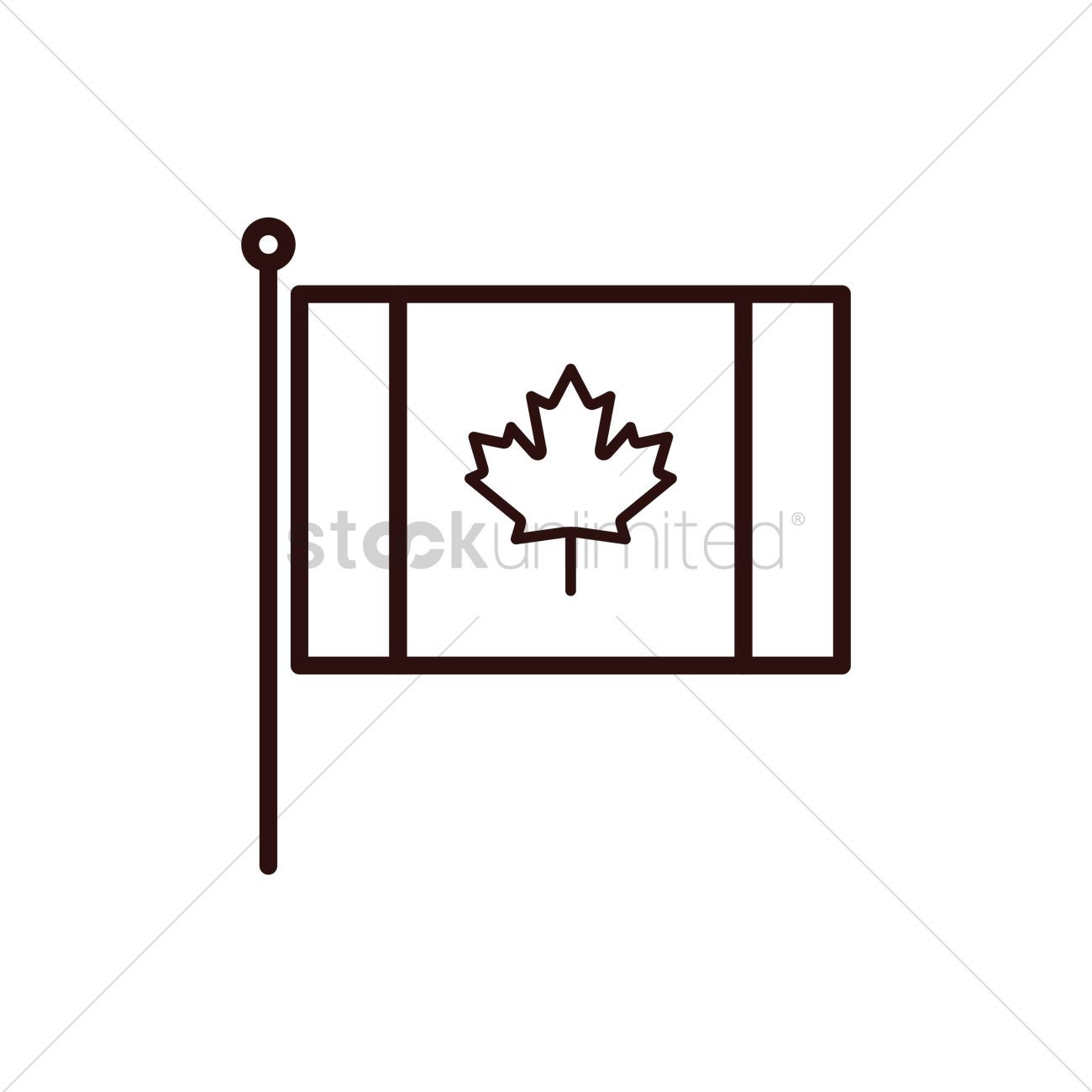 canadian flag vector image 1950950 stockunlimited