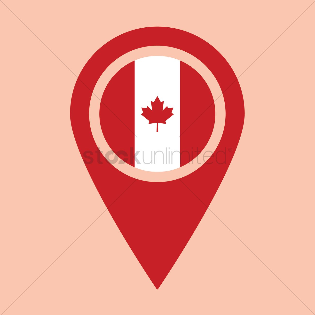 Canadian map indicator Vector Image 1963002 StockUnlimited