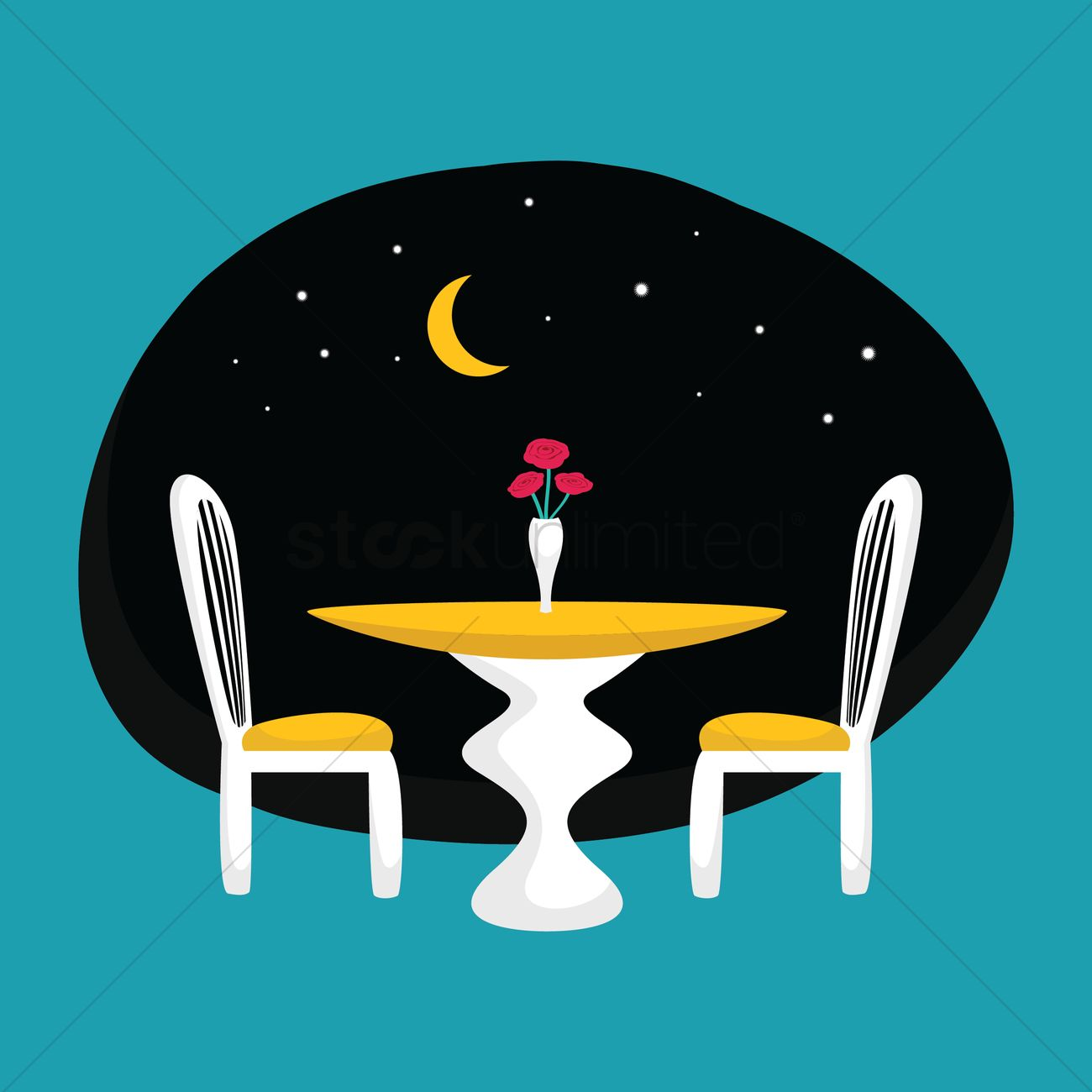 Candlelight Dinner Vector Image 1274582 Stockunlimited