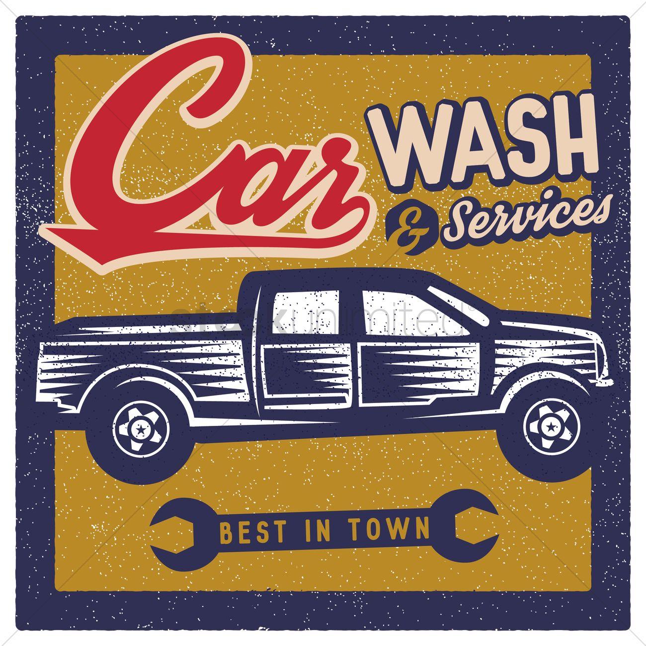 Car Wash Wallpaper Vector Image 1566342 Stockunlimited