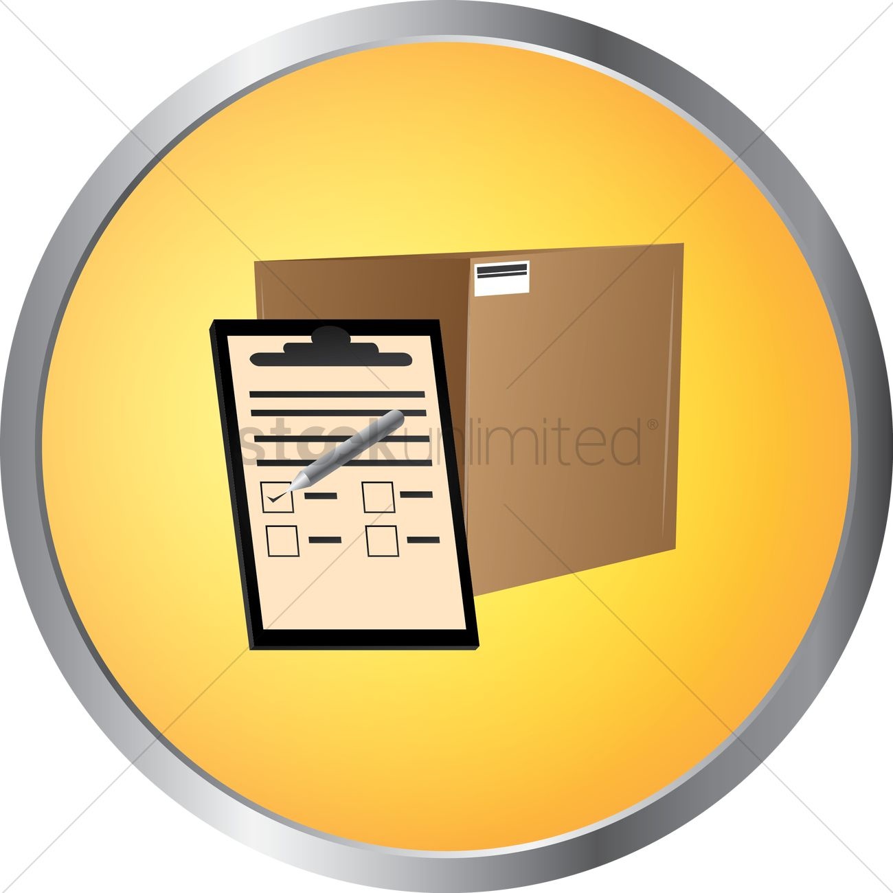 Cardboard Box With Check List Vector Image 1340214 Stockunlimited