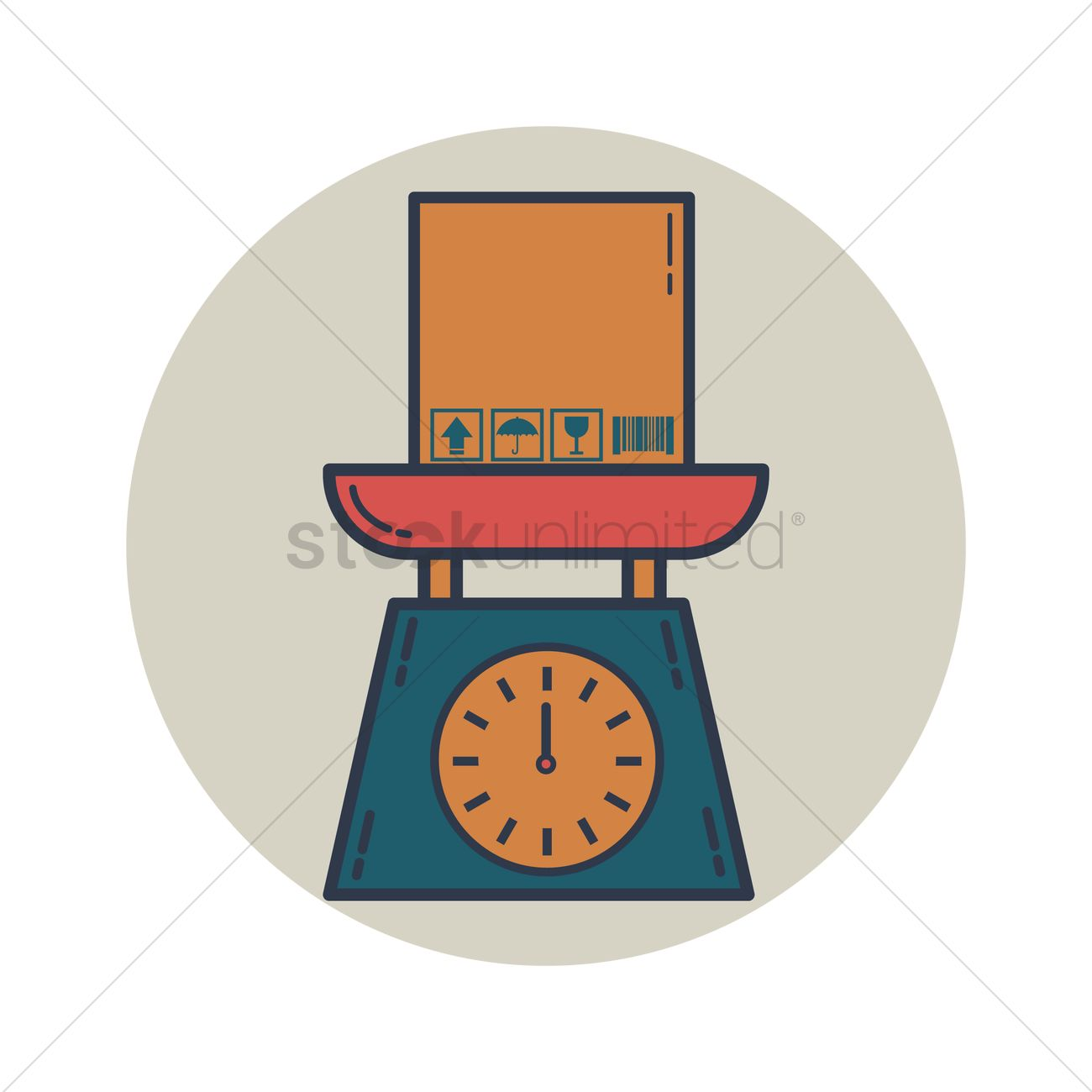 Cardboard box with weighing scale vector image 1306090 cardboard box with weighing scale vector graphic biocorpaavc Choice Image