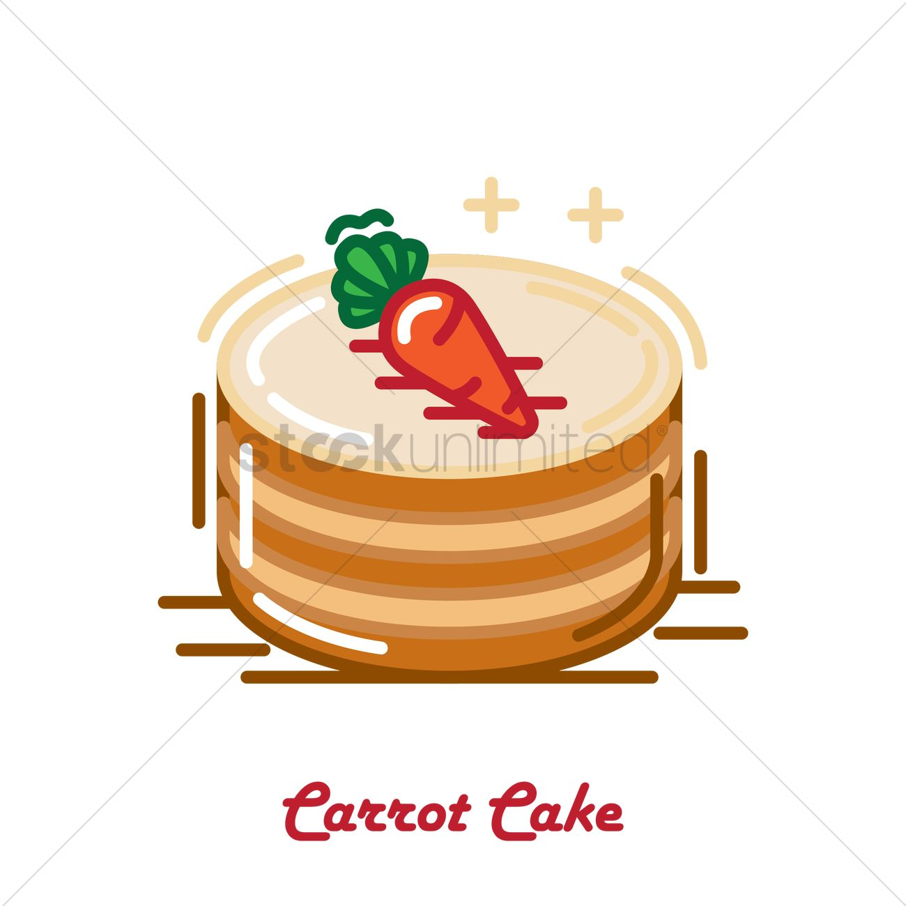 Carrot cake Vector Image - 1956666 | StockUnlimited