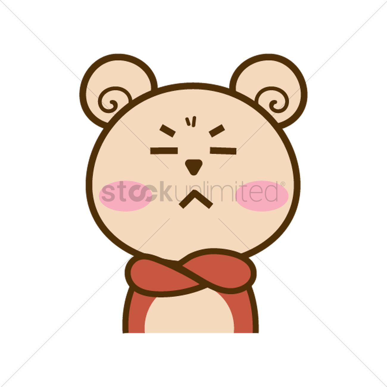 cartoon bear with crossed arms vector image 1957262 stockunlimited
