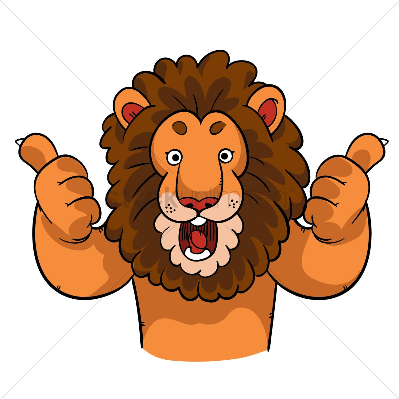 Cartoon Lion Giving Two Thumbs Up Vector Image 1957578