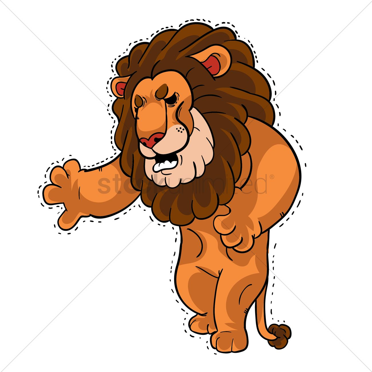 Cartoon Lion In Pain Vector Image 1957582 Stockunlimited