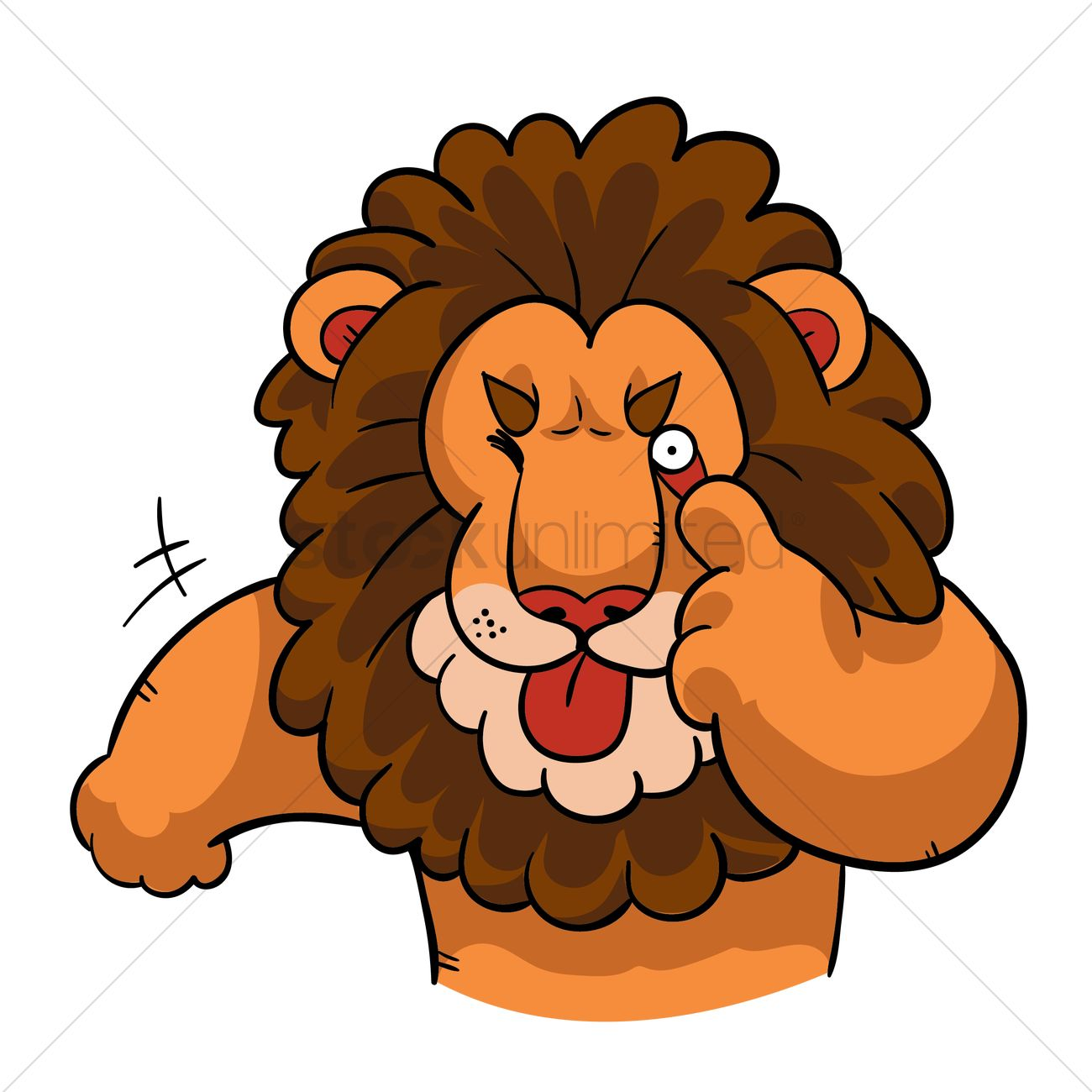 cartoon lion makes a taunting face vector image 1957590 rh stockunlimited com lion cartoon face mask lion face cartoon pic