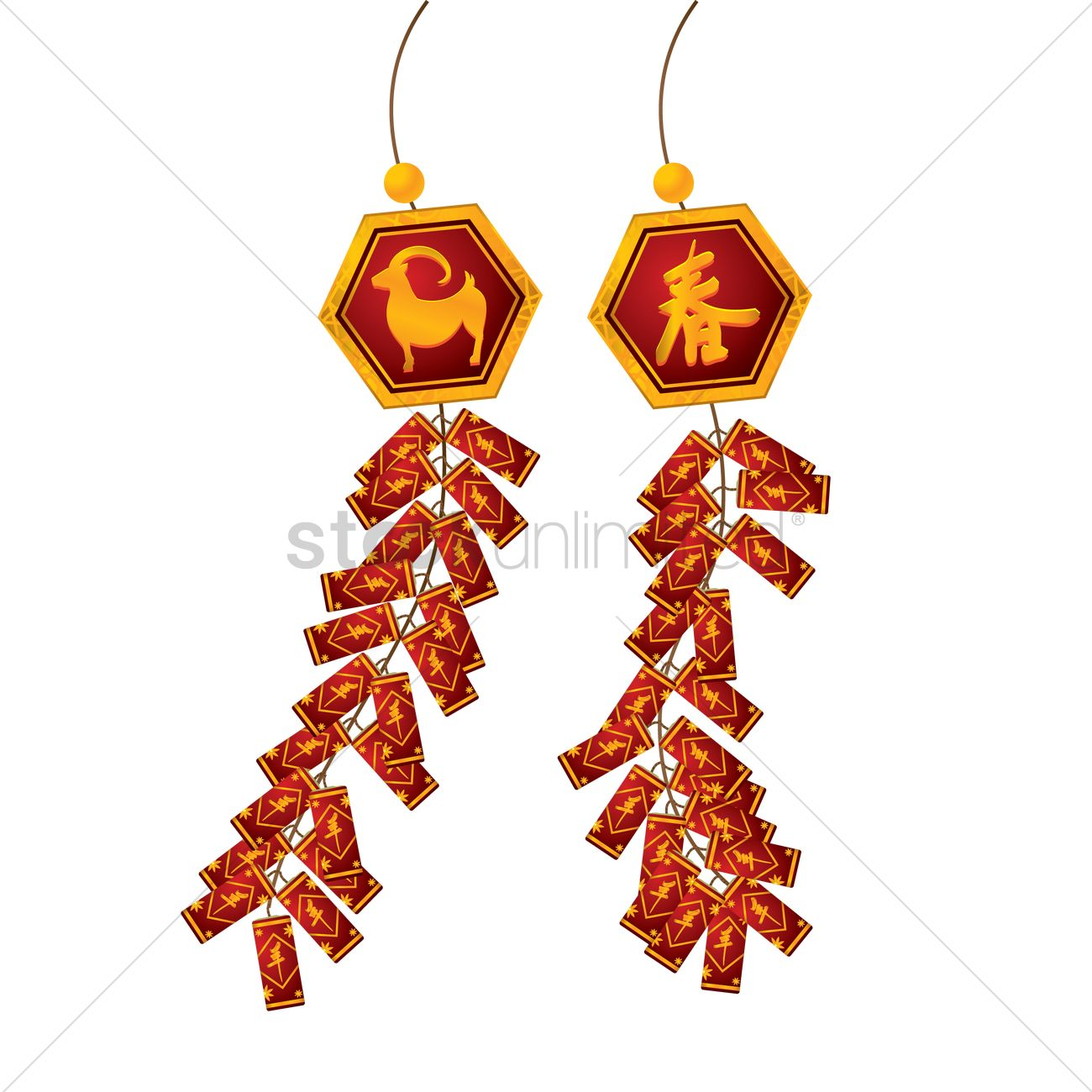 Chinese firecrackers Vector Image - 1354722 | StockUnlimited