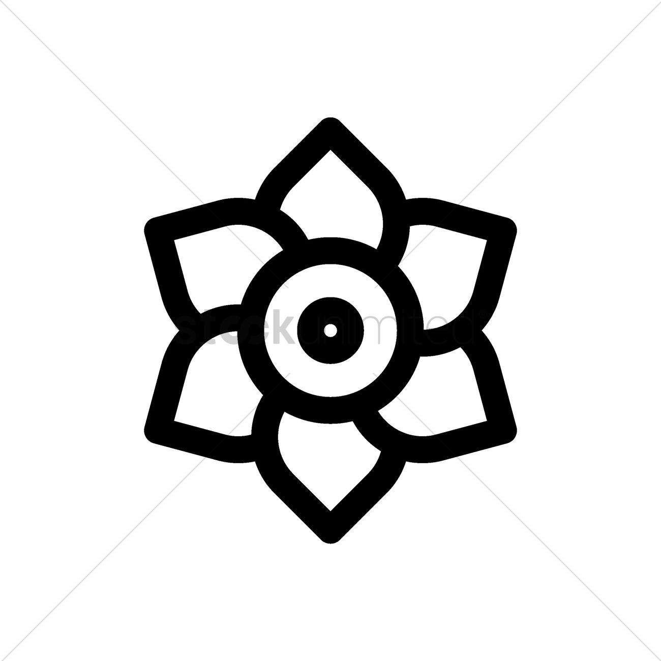 Chinese Lotus Flower Icon Vector Image 1979098 Stockunlimited