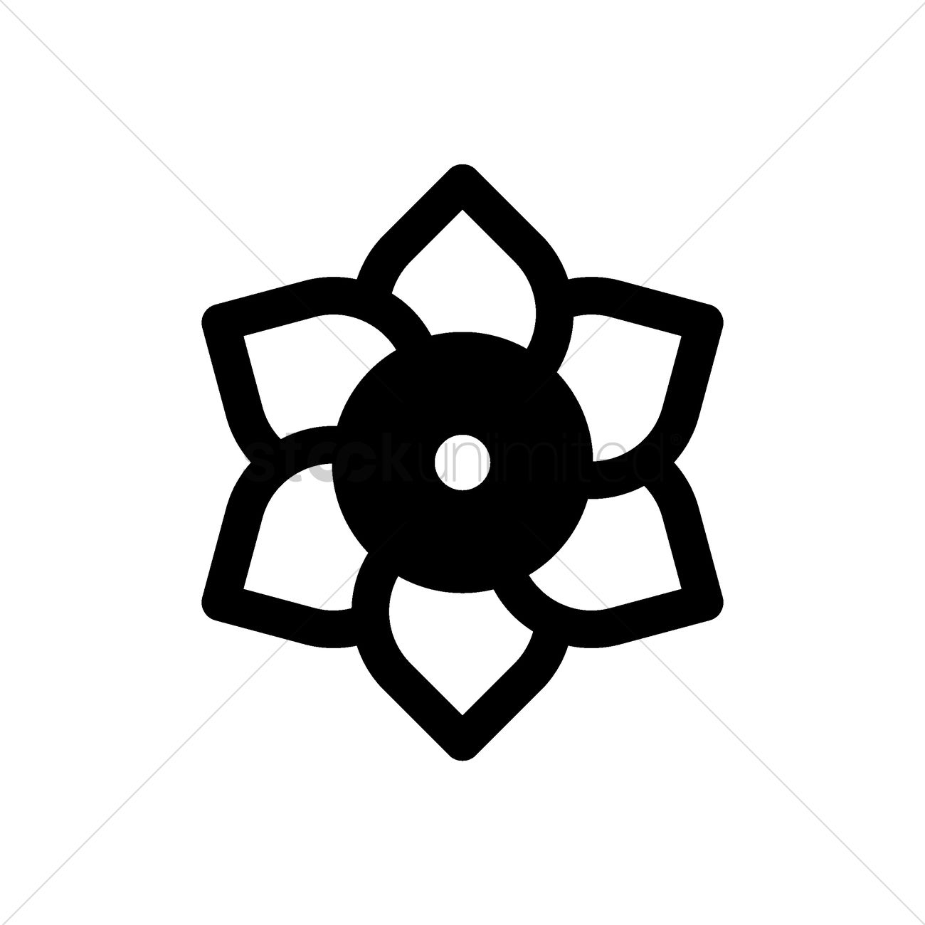 Chinese Lotus Flower Icon Vector Image 1979214 Stockunlimited