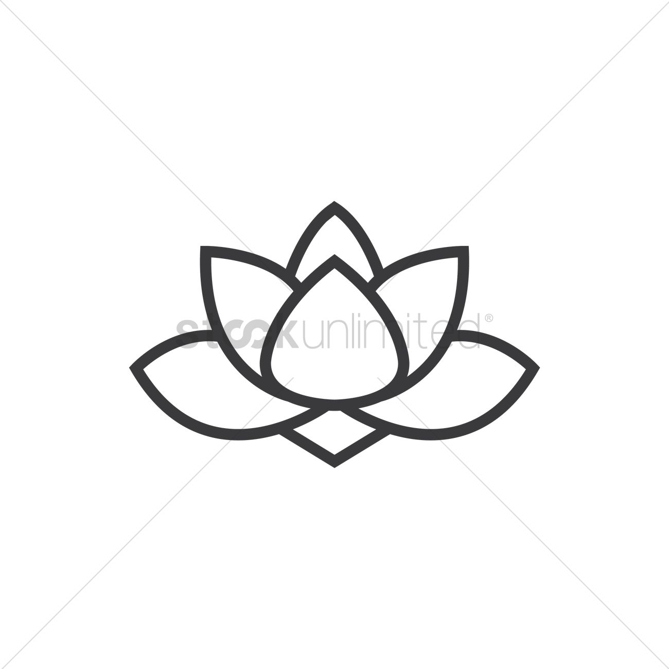 Chinese Lotus Flower Vector Image 1972754 Stockunlimited