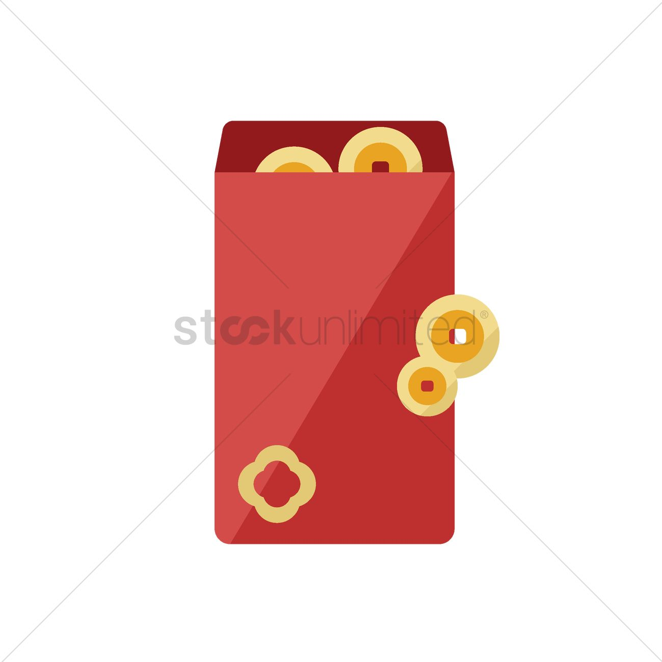 chinese new year red envelope vector graphic - Chinese New Year 1966