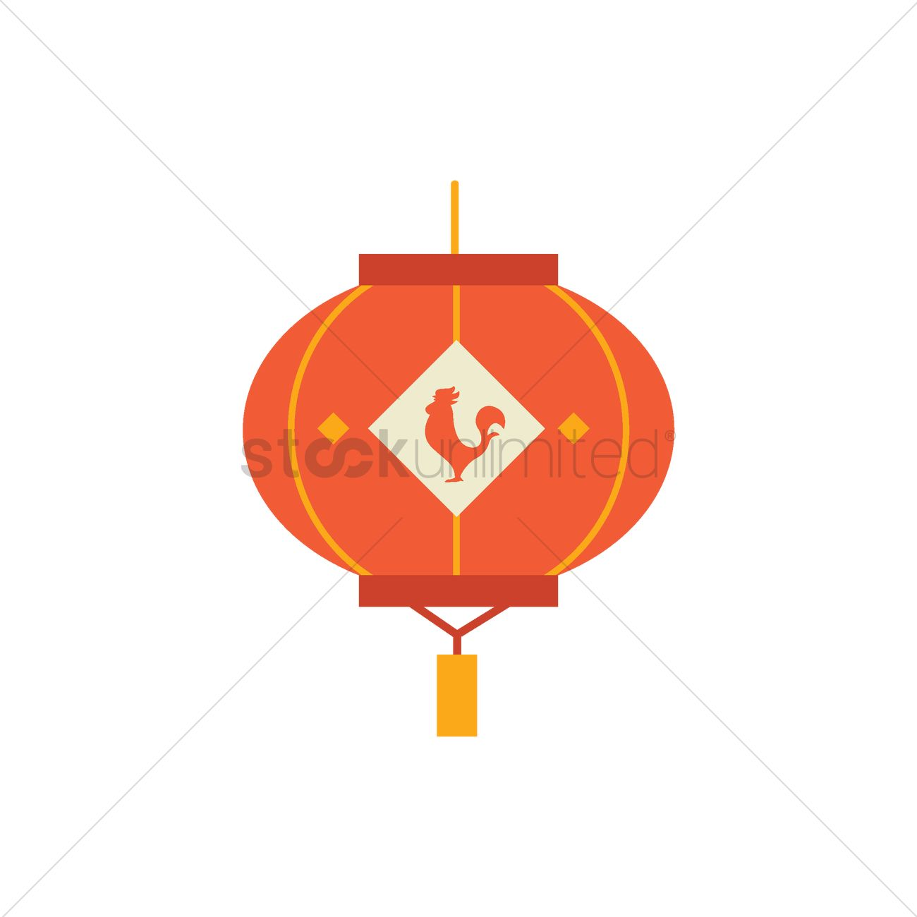 chinese new year traditional lantern vector graphic - Chinese New Year 1969