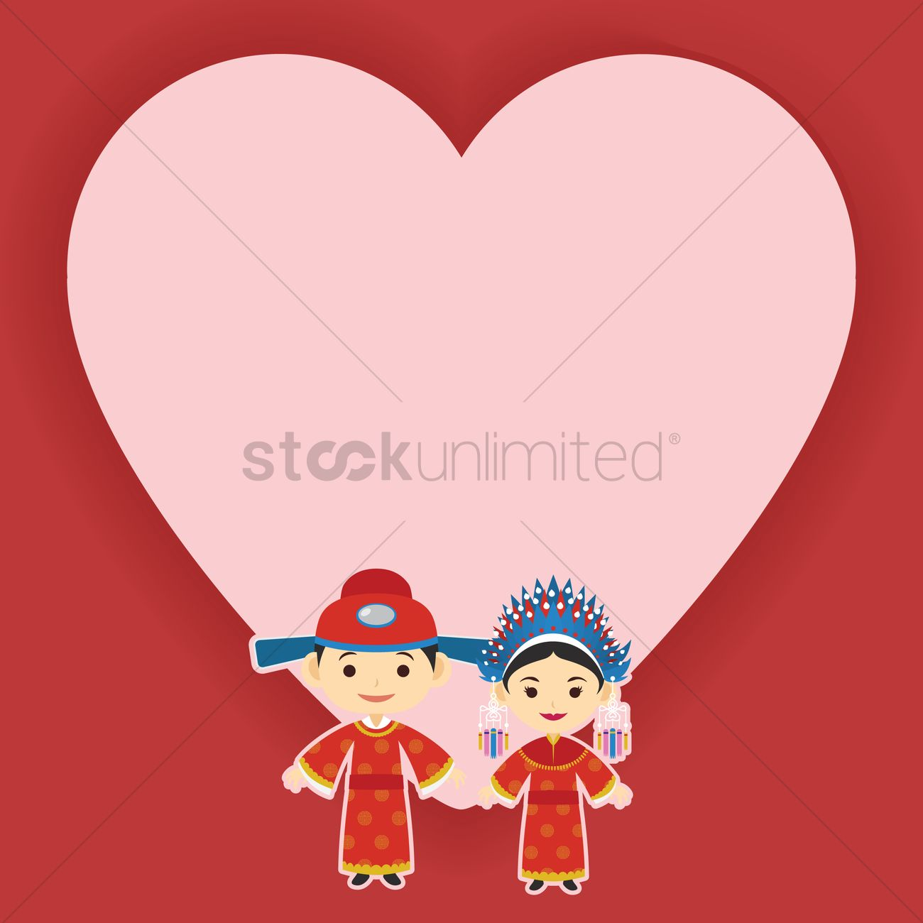 Chinese wedding invitation card design Vector Image - 1244210 ...