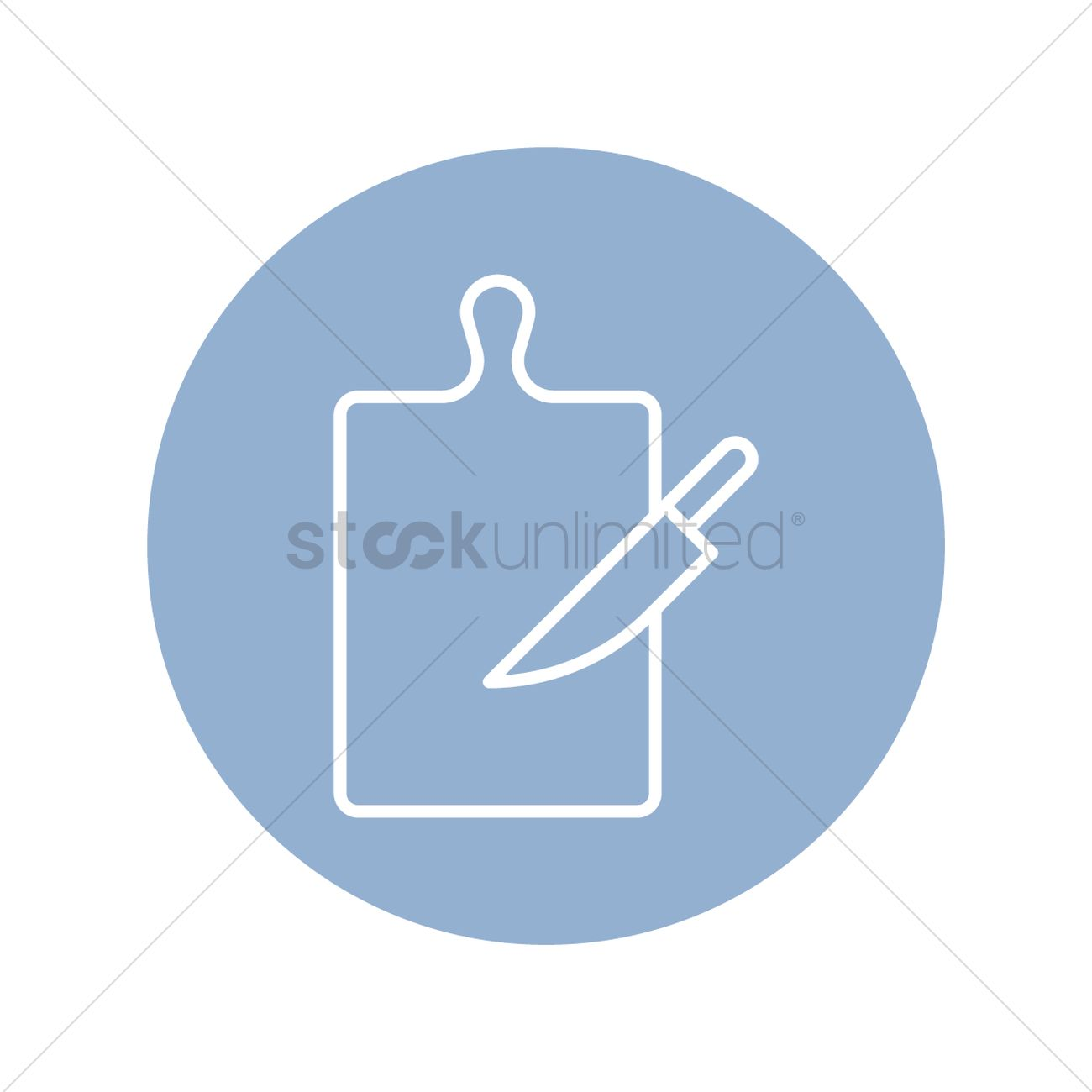 Chopping board with kitchen knife Vector Image - 2026554 ...