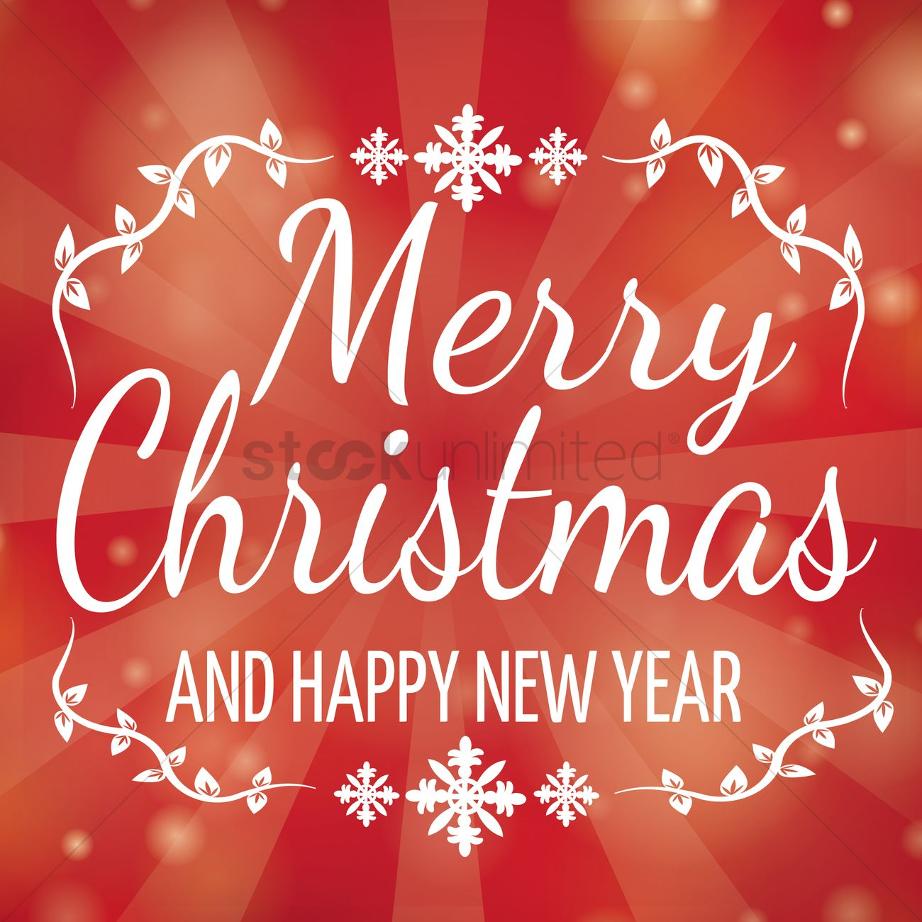 Christmas And New Year Greetings Vector Image 1812134 Stockunlimited