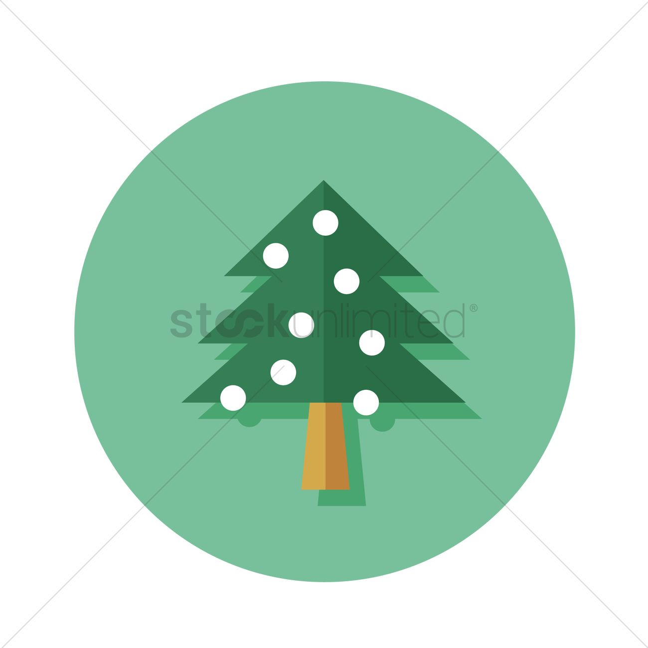 Free christmas tree icon vector graphic