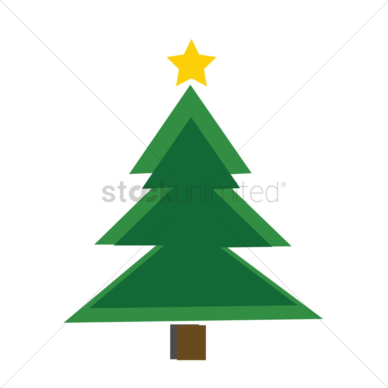 Christmas Tree On White Background Vector Image 1237018