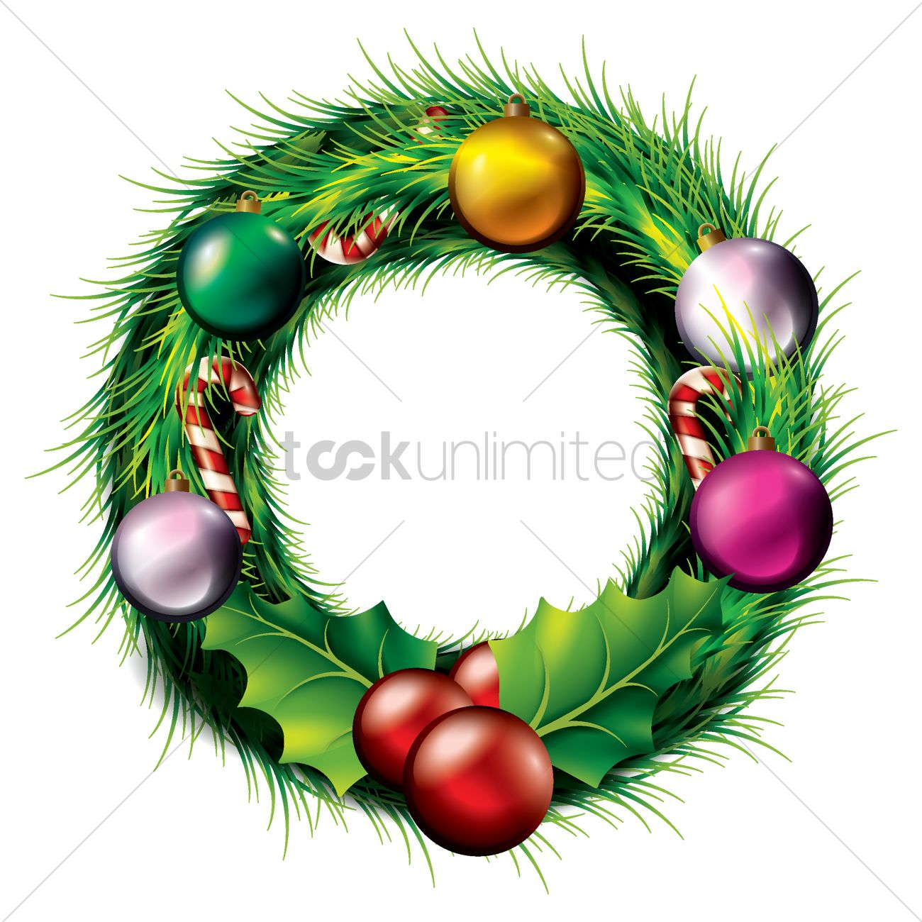 Christmas Wreath Vector.Christmas Wreath Vector Image 1954790 Stockunlimited