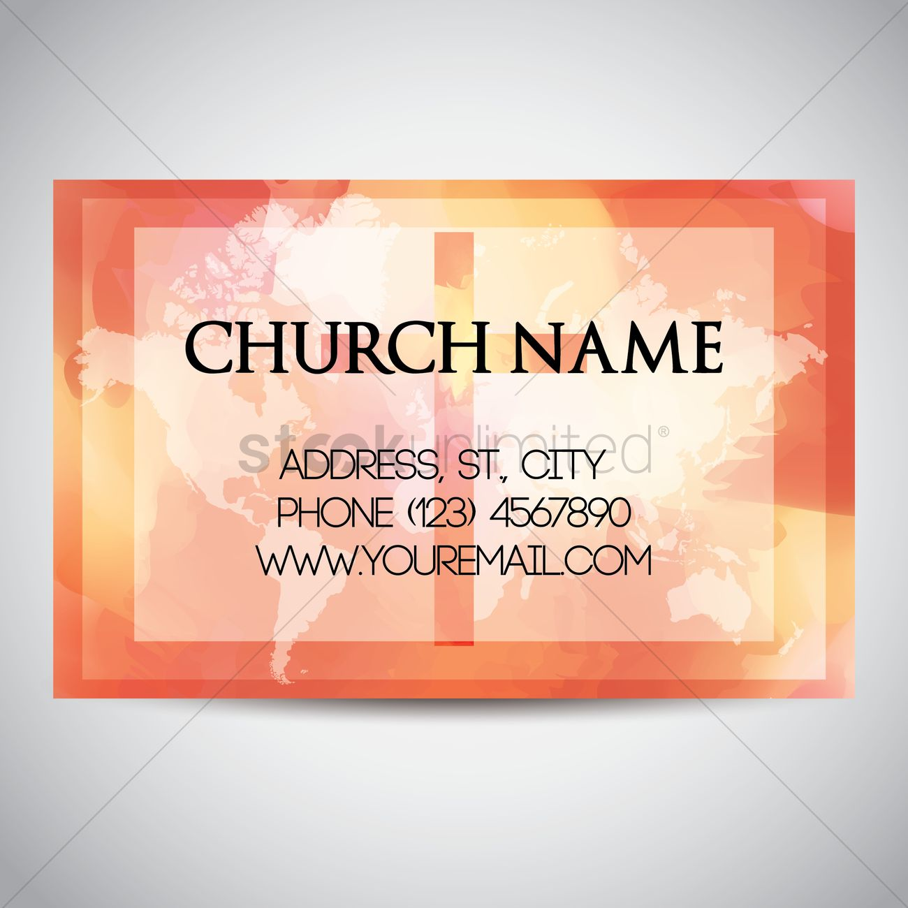 church name card template design vector image 1964366 stockunlimited