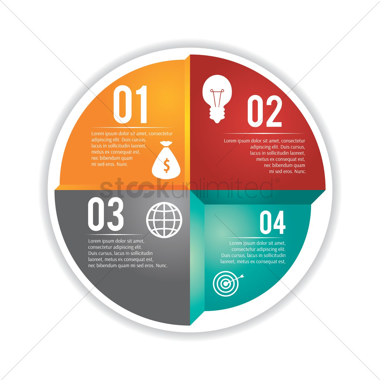 Circle Infographic Flowchart Vector Image 1990598 Stockunlimited