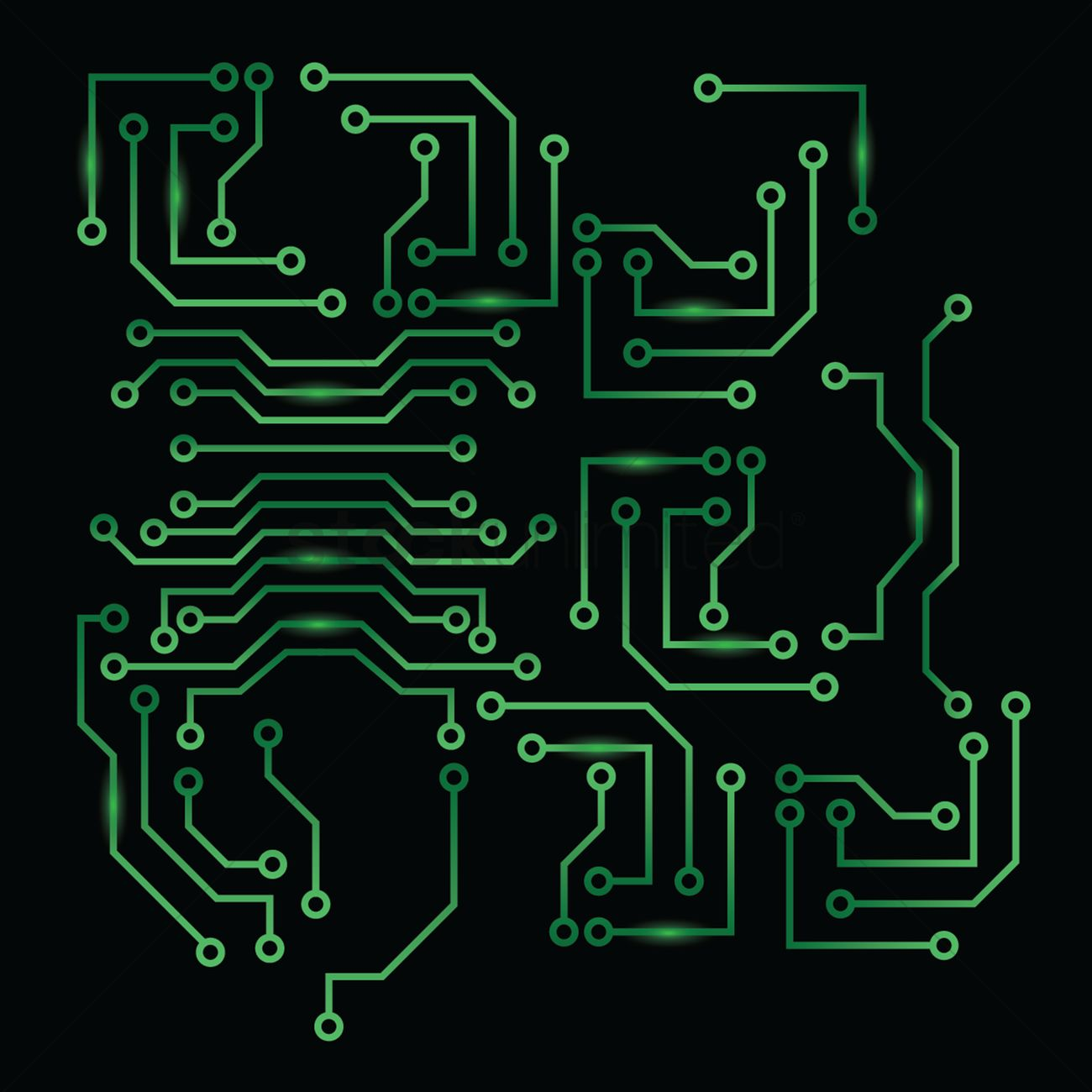 Circuit Board Font Royalty Free Clip Art Image Simple Drawing Of A Design Vector 1646954 Stockunlimited