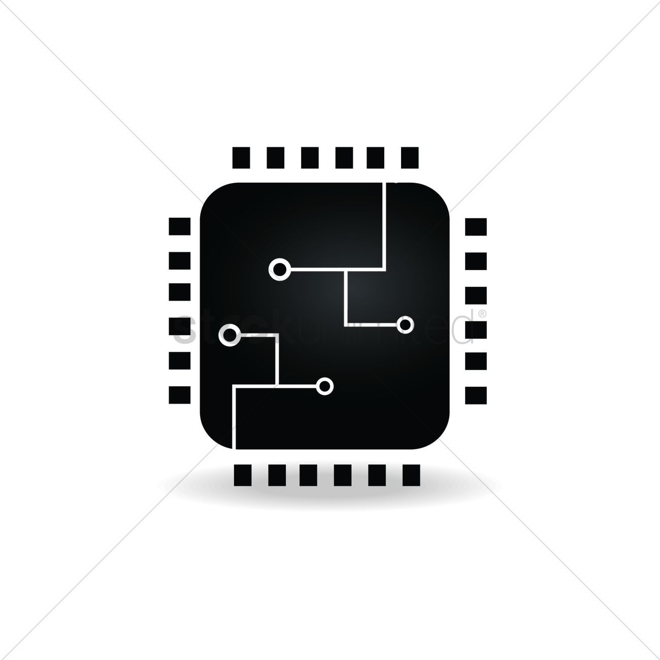 Circuit Board Icon Vector Image 1943310 Stockunlimited Royalty Free Clip Art Simple Drawing Of A Graphic