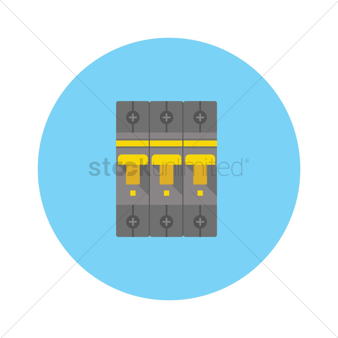 circuit breaker and fuse box vector graphic