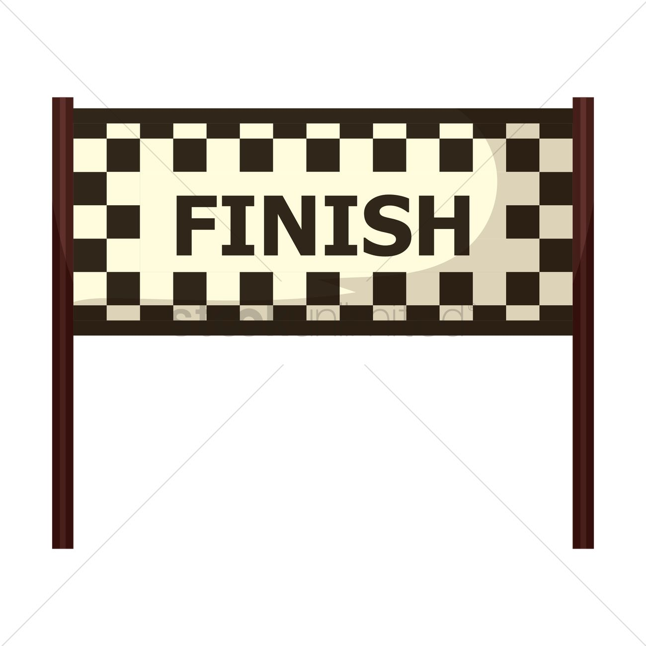 free circuit finish line vector image 1444214 stockunlimited