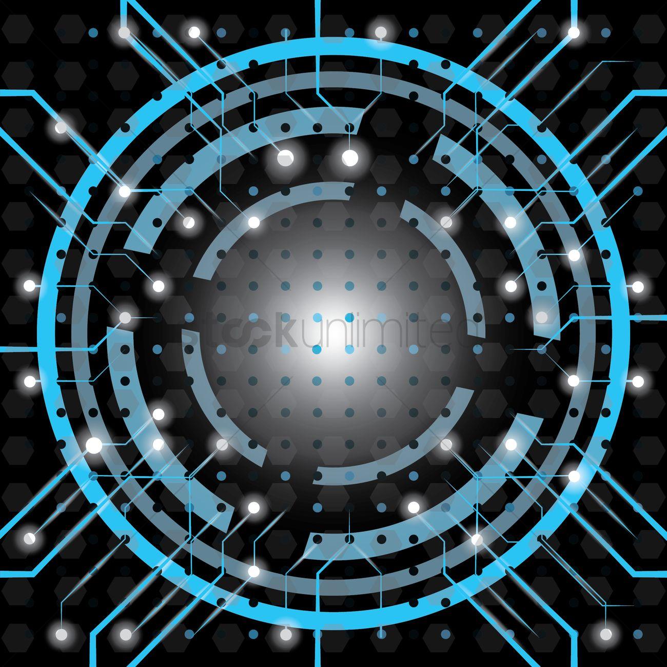circular circuit design vector image 1807594 stockunlimited