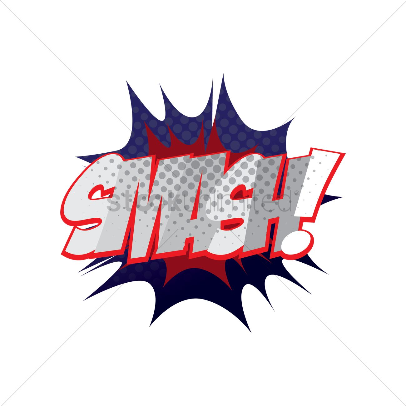 comic bubble smash vector image 1608702 stockunlimited