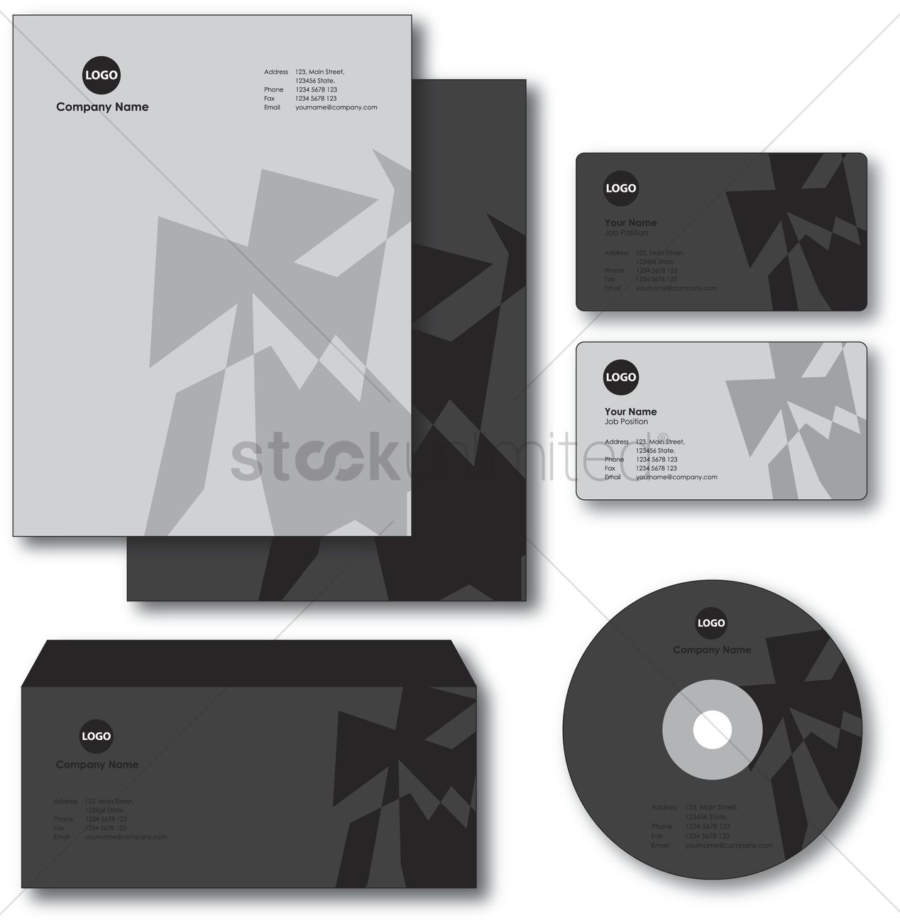 Company paper envelope business card and cd vector image 1235450 company paper envelope business card and cd vector graphic reheart Image collections