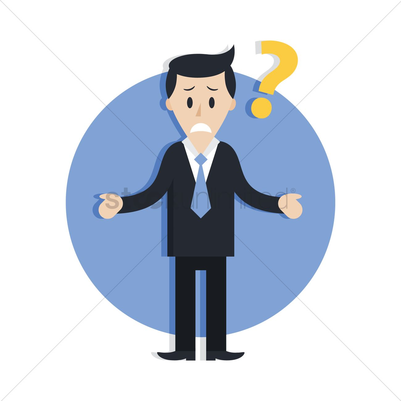 confused businessman vector image 1870058 stockunlimited clip art audio files clip art audio sounds