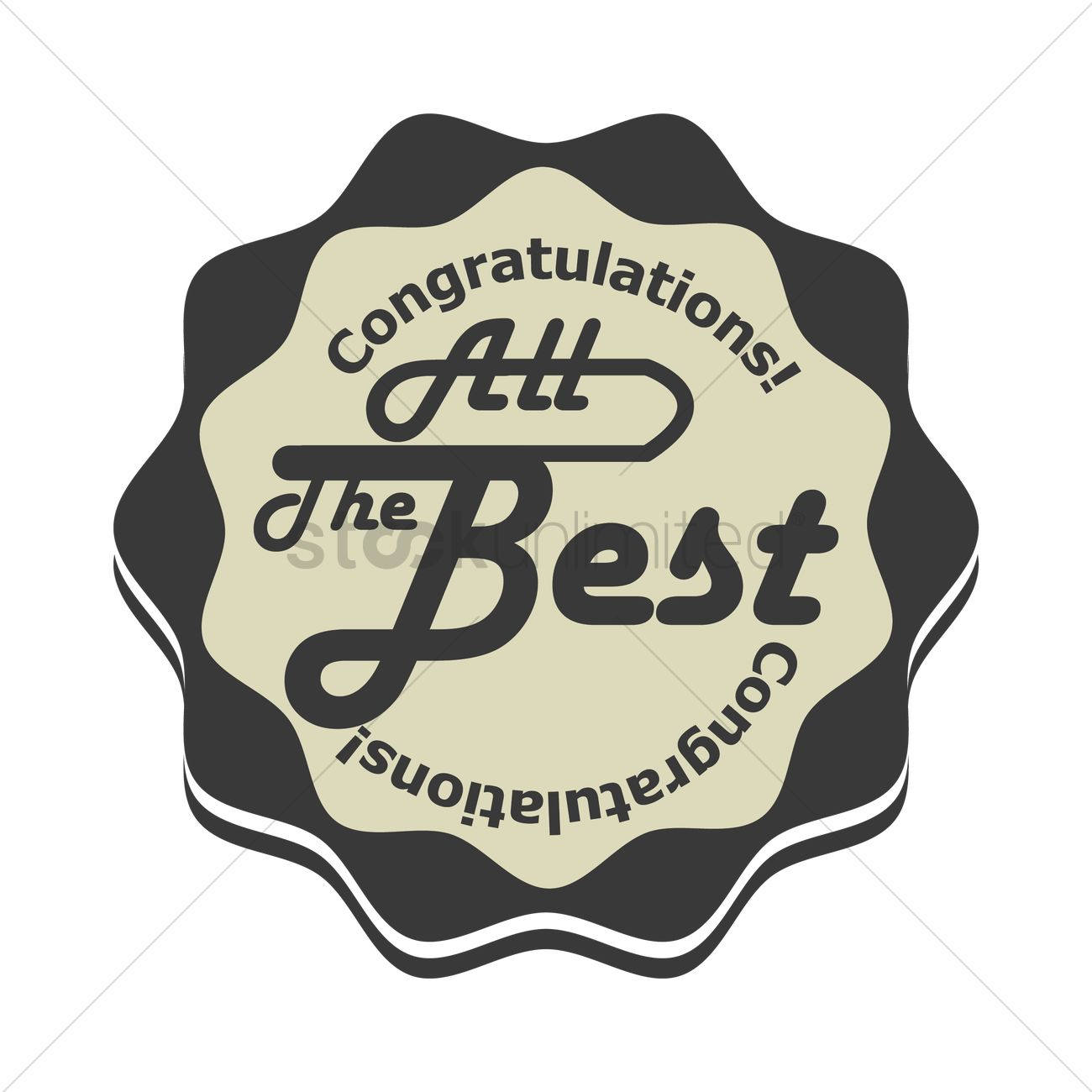 congratulations all the best stamp seal vector image 1710238