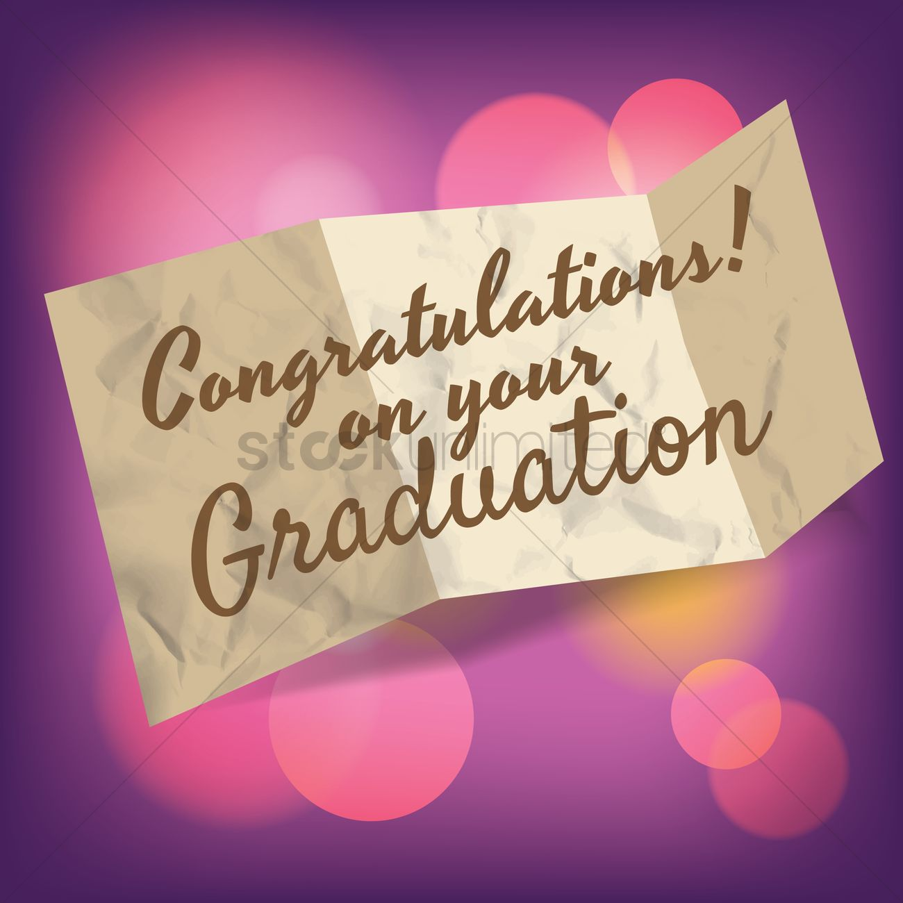 congratulations on your graduation greeting vector graphic