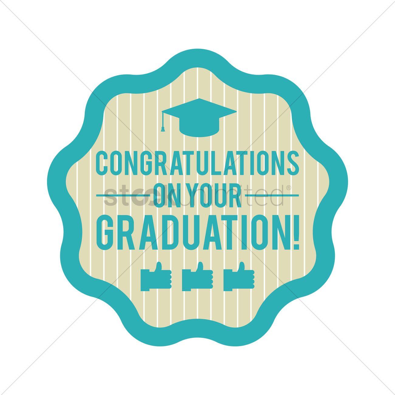 congratulations on your graduation vector image