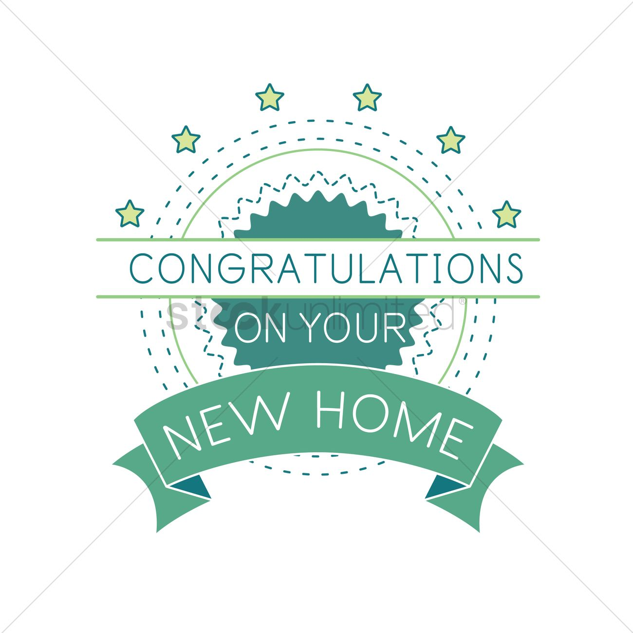 Congratulations on your new home label vector image for Enjoy your new home images