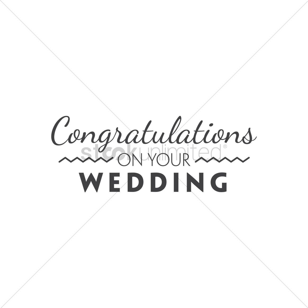 congratulations on your wedding ベクタークリップアート 1791270