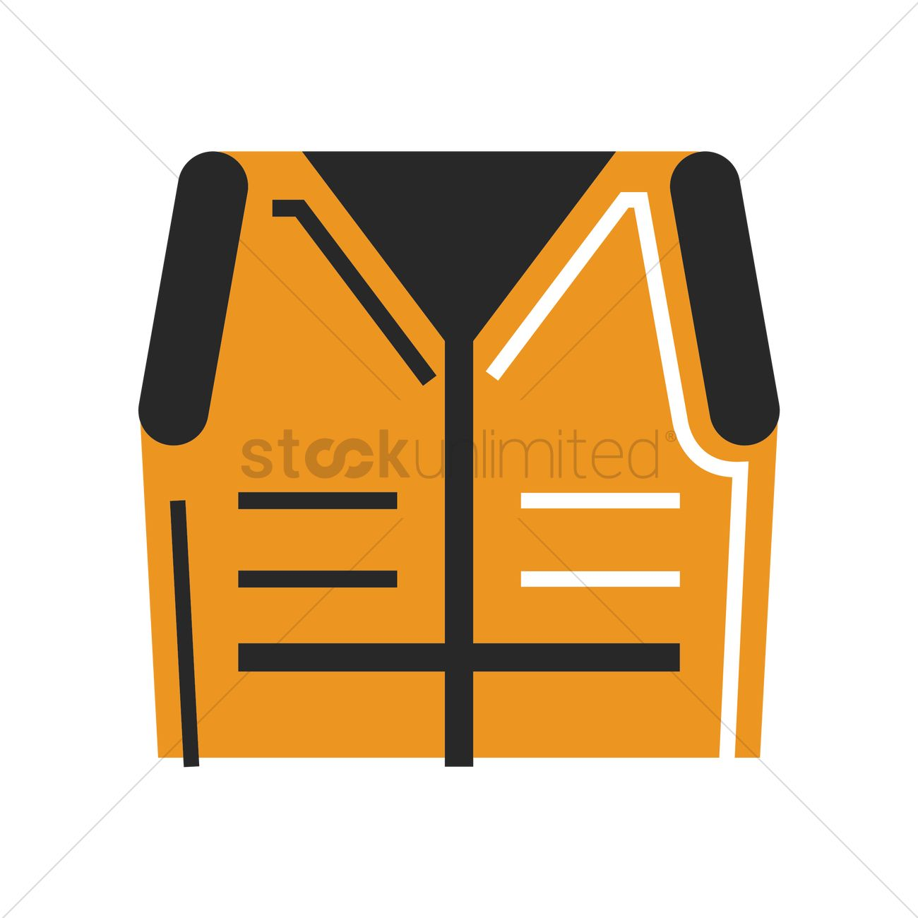 Construction Safety Vest Vector Graphic