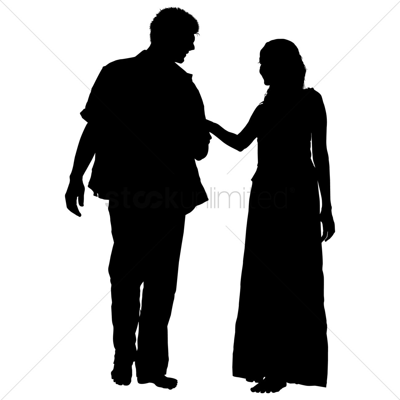 couple silhouette vector image 1463730 stockunlimited