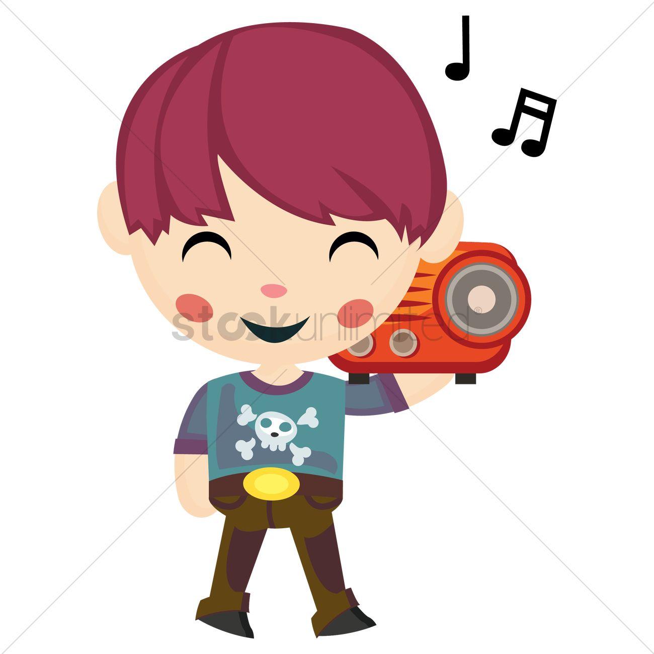 Cartoon Listening To Radio | Adultcartoon.co