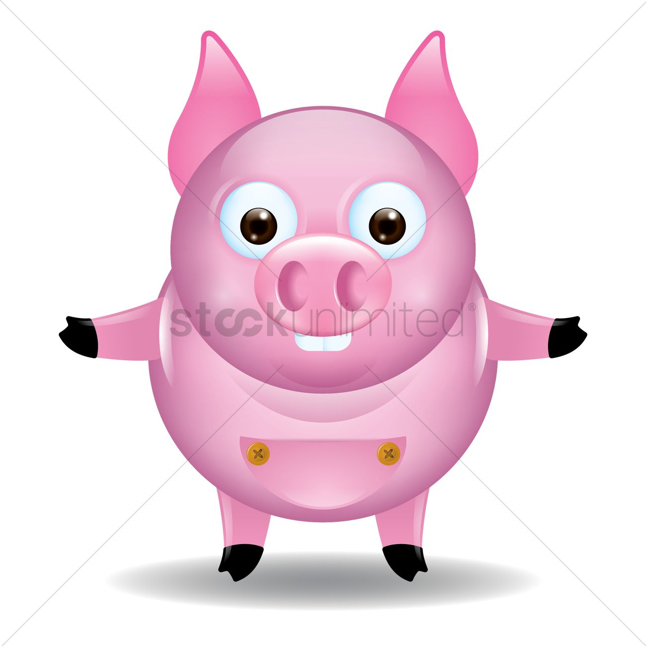 free cute pig cartoon vector image 1528298 stockunlimited