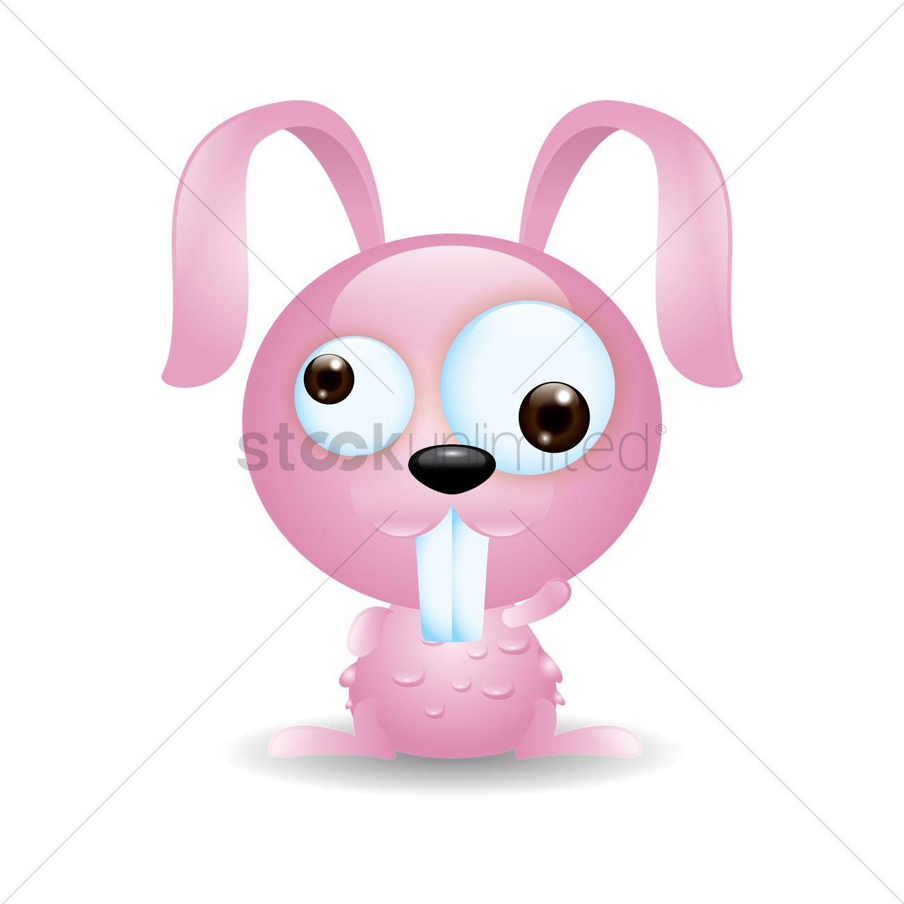 free cute rabbit cartoon vector image 1528306 stockunlimited